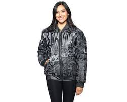 wilda leather women s new york black embroidered leather jacket