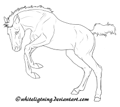 Small Picture Coloring Pages Of Horses Jumping Jumping horse printable coloring