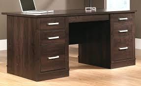 desk angelica sauder office port executive desk dark alder images in by des