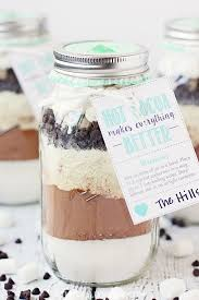 hot chocolate mix in a jar free printable hot cocoa gift tag hot