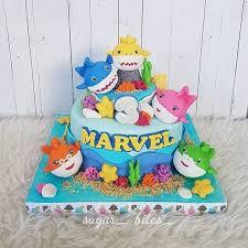 Jual Birthday Cake Baby Shark Kota Bandung Sugar Bites Tokopedia