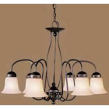 livex lighting home basics 6 light bronze chandelier