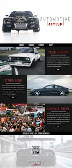 Asylum Design Automotive Asylum Concept Website Design On Behance