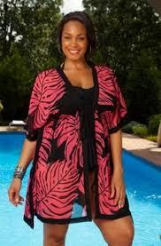 plus size cover up always for me control retro halter plus size swimdress black