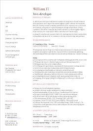 Cv Vitae Free Java Developer Curriculum Vitae Templates At