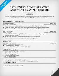 data entry administrative assistant resume example resumecompanioncom resume samples across all industries pinterest data entry administrative resume for data entry