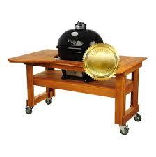 <b>Гриль угольный Oval Large</b> Luxury, на дубовом столе 775DL Primo