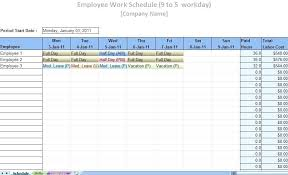 Free Employee Schedule Calendar Free Monthly Employee Schedule Template Download Aesthetecurator Com