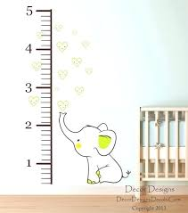 decor designs decals baby elephant wall decal together with elephant growth chart printed fabric wall decal decor designs decals
