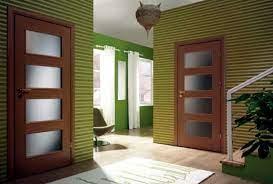 interior modern wooden glass door