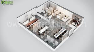 3d office design. Fine Office Modern Office 3D Floor Plan Design With 3d R