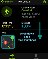 tracking workout routes in maps