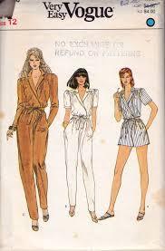 Jumpsuit Pattern Vogue Amazing Vogue 48 Womens Mock Wrap Jumpsuit Rompers 48s Vintage Sewing