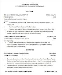 Army Resume Military Resume 8 Free Word Pdf Documents Download