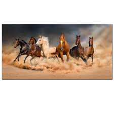 live art decor large size running horse canvas wall art wild animal picture