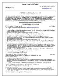 Hospitality Resume Objective Examples Of Resumes Hotel Statement