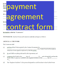 Fill, sign and send anytime, anywhere, from any device with pdffiller. Payment Agreement Contract Form Doc And Pdf Form Sample Contracts