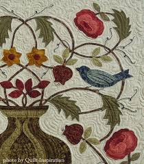 William Morris (1834 –1896) was an English textile designer ... & Close up, A Matter of Morris by Mary Mix, photo by Quilt Inspiration. The  pattern is from the book,