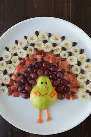 Decorative Relish Tray For Thanksgiving Create a healthy fruit platter for Thanksgiving in the shape of a 79