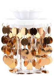 retailer metallic gold locker chandelier