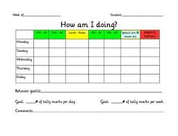 How Am I Doing Chart Behavior Chart How Am I Doing For The Love Of Teaching