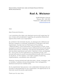 Cover Letter Examples For Social Service Worker Adriangatton Com