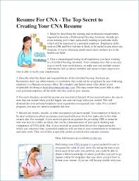 Cna Job Description Resume Resume Layout Com