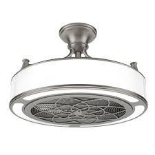flush mount enclosed ceiling fan. LED Indoor/Outdoor Brushed Nickel Ceiling Fan With Remote Control-CF0110 - The Home Depot Flush Mount Enclosed