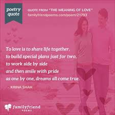 the meaning of love r tic poem