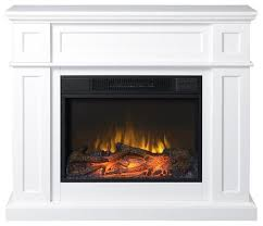 electric fireplace mantel white 41 transitional indoor fireplaces