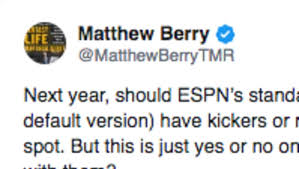 Matthew Berry Leads Charge To Completely Change Espn Fantasy
