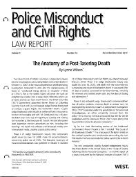 Police Misconduct And Civil Rights Law Report Taser Death