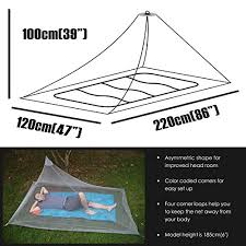 Dimples Excel Mosquito Net For Single Camping Bed 250 Holes Per