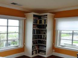 l shaped corner shelves furniture adorable tall for storage ideas white stained wooden floor to ceiling bookshelf among frame glass windows floatin