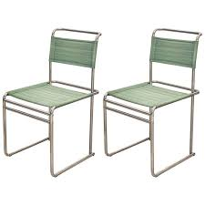 pair of marcel breuer b5 chair for
