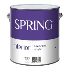 spring 4l low sheen interior paint