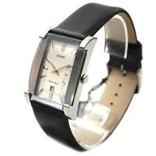 men 039 s watch traditional orient rectangular leather band image is loading men 039 s watch traditional orient rectangular leather