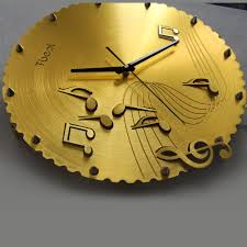 Decorative Wall Clocks For Living Room Funky Music Notes Wall Clock Home Decoration Wall Clocks For