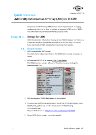 Chapter 1 Setup For Aio Quick Reference Admiralty