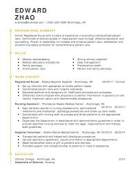 Registered Nurse Resume Sample Pdf Canada Format Examples For