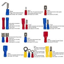 271pcs Wire Terminals Crimp Connectors 19 Types Insulated Electrical Cable Spade Set Color Red Yellow For 12 Types 22 10 Awg Us And Eu Standard Copper