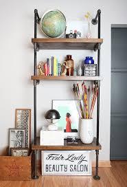 how to build a pipe shelf diy