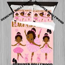 black girl magic ballerina pink duvet