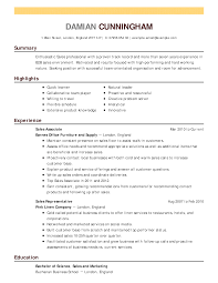 Furniture Sales Resume Sample Furniture Sales Resume Sample Resume For Study 7
