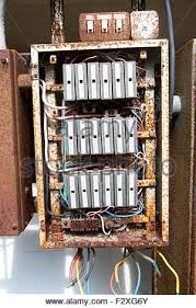 uk old electric fuse box in a london house stock photo 33998844 uk fuse box colours old rusty electrical fuse box, uk stock photo