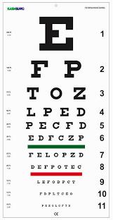 Amazon Com Snellen Distance Vision Eye Chart 20feet Health