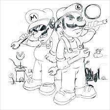Super Mario Bros Coloring Pages Printables Mortalityscoreinfo