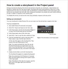 Project Storyboard Template 5 Free Word Excel Pdf Ppt Format