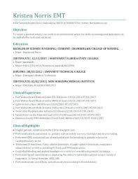 Gallery Of Emt Resume Objective Amere Resume Certified Major Economics