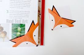 red ted art book fox corner bookmarks red ted art s of red ted art
